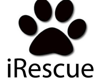 Vinyl Decal iRescue dog paw