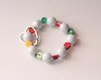 Fruit Salad Keychain Bracelet