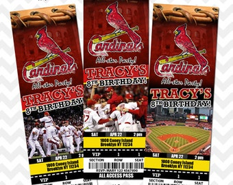 St. Louis Cardinals Invitation, Cardinals Birthday Party, St. Louis Cardinals Baseball Invitation, Save the Date Invitation, Birthday Invite