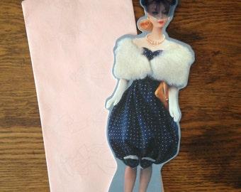 Glamorous vintage Barbie greeting card