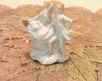 Miniature Colonial Courting Couple