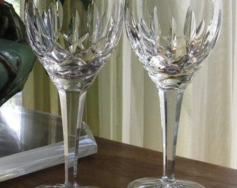 Waterford Crystal Lismore Pattern Wine Glasses Set of 2