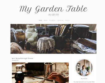 My Garden Table - Responsive WordPress Theme, food blog template