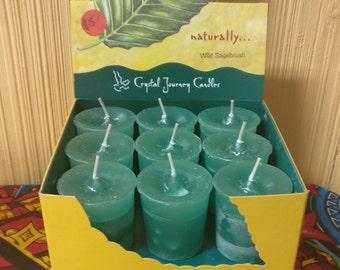 Wild Sagebrush Scented Crystal Journey Candles