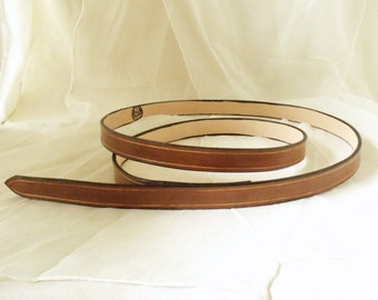 Light brown leather belt 2 cm