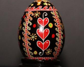 Pysanka, Ukrainian Egg, pysanky egg, Ukrainian folk art, decorative egg, uncommon gift, egg art, unique home decor, Ukrainian Easter egg
