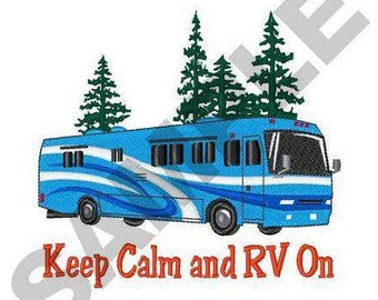 RV Motor Home - Machine Embroidery Design