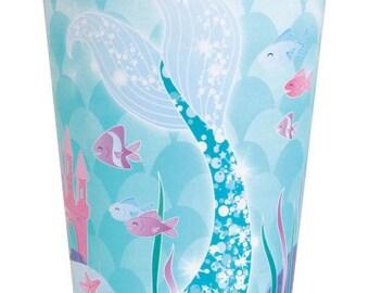 Mermaid Party Cups/ Purple Mermaid Party Cups/ Mermaid Cups