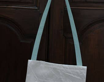 In raw cotton canvas sling bag