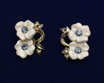 White Flower Clip Ons