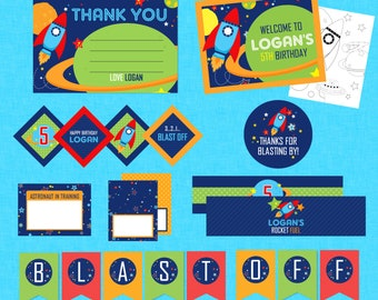 Cool Outer Space Mega Birthday Printable Party Pack