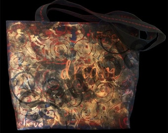 Hand-painted Shoulder Bag, fully customizable, made in USA