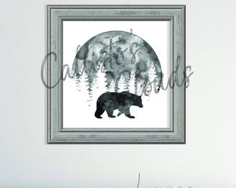 Bear with Full Moon Print - Digital Download - Callisto's Clouds logo