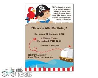 Pirate Invitation - Boy
