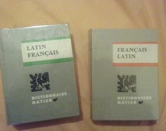 Dictionary French-Latin, Latin-French (lot) very good condition