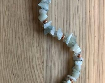 Athena ~ Aventurine and Copper Bracelet.