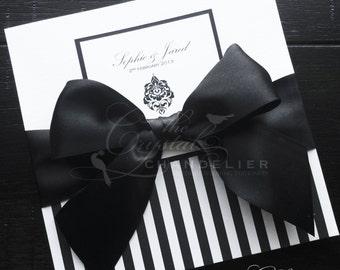 "Elegant Luxury ""Sophie"" Wedding Invitation - Wedding Invitation Square SAMPLE"