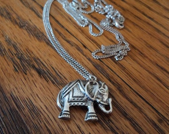 Indie Boho Elephant Charm Necklace