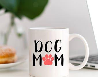 Dog Mom Paw Print Decal