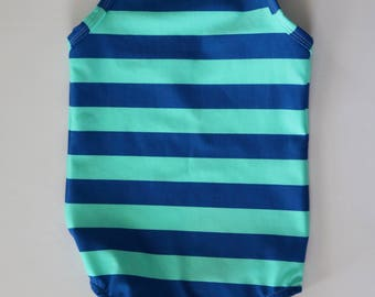 Striped Girls One piece Swimsuit