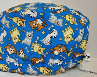 NattyScrubs Puppy Love Pet Lovers Scrub Hat, Surgical Cap, Scrub Cap