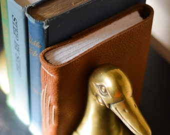 Bronze Duck Bookends