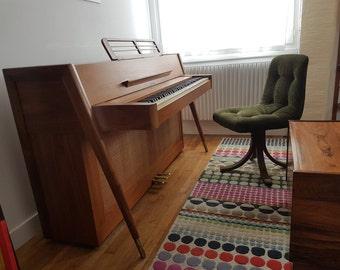 Mid century modern Danish style Acrosonic spinet piano from Baldwin