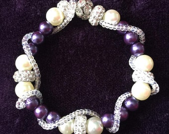 Metallic Purple Bracelet