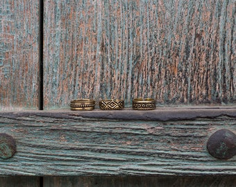 Toe Ring Brass Eye Rond Sculpted / Knuckle Ring Brass / Dreadlock Ring / Bague d 'orteil / Bague de Phalange / Bague de dread