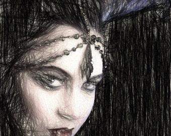 Daemon, Demoness, Black, Gothic, Freedom