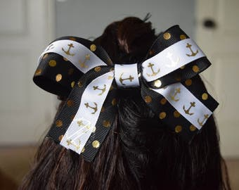 Dots and Anchors Bow