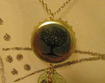 Cider Tree Bottlecap Necklace