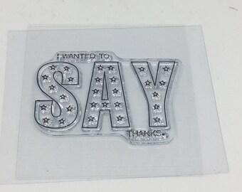 I wanted to say thanks Stamp - Stamp Set - Scrapbooking - Card Making Supplies - Studio G Stamp - Stars Stamp
