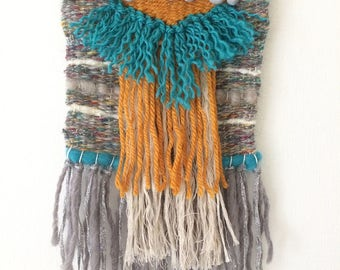 """Woven wall hanging - small-""""vintage style"""""""