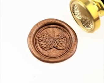 Pinecone wax seal stamp/ wax sealing kit /Custom wedding seals/wedding invitation seal/SS041