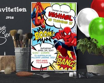 Spiderman Invitation, Spiderman Birthday, Spiderman Invite, Spiderman Party, Spiderman Printables, Spiderman Custom