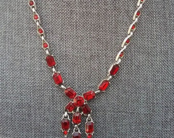 Ruby Red Bogoff necklace
