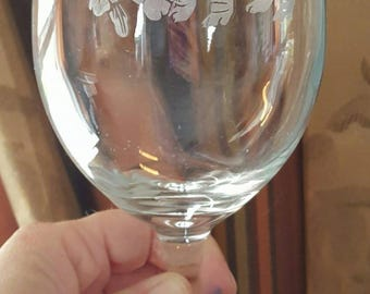 Bulldog Puppy Etched Wine Glasses (Set of 4)