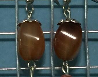 Amber Mountain earrings