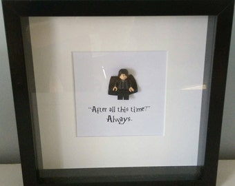 Harry Potter Lego Minifigure Box Frame Professor Severus Snape After All This Time Lily Potter Love Mini Figure