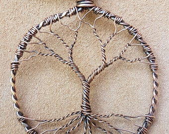 Antiqued Copper Tree of Life Pendant