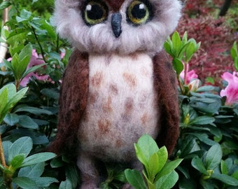 Needle felted Owl sculpture