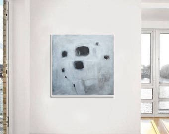 large painting , black and white painting, large abstract painting,  original painting, wall art, acrylic on canvas,, gray painting, BBB40