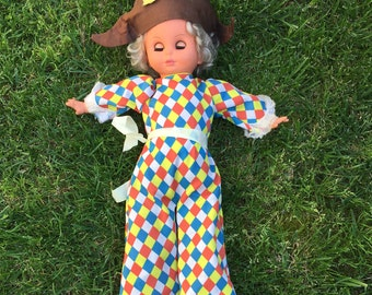 ARI Polichinelle Harlequin retrieves vintage Doll doll