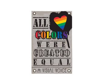 Equal Colors Canvas Sign