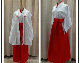 Kimi No Nawa Miko Cosplay Costume