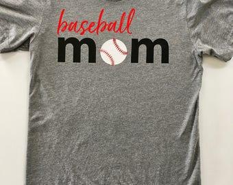 Baseball Mom Shirts / Custom Baseball Shirt / Mom Shirt / TBall Mom Shirt / Baseball Shirt / Sports Mom Clothing / Game Day Shirt / Softball