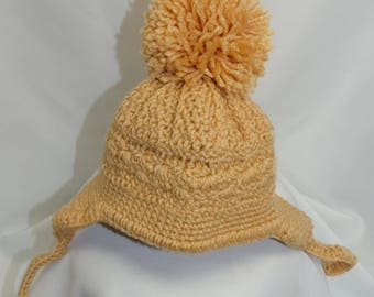Winter Baby Cap 0 to 6 months