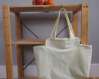 Small Market Tote in Yellow Sherbet