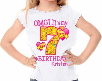 Emoji Shirt - Emoji Birthday Shirt Personalized with Name and Age